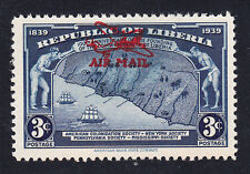Liberia # C14 MNH Partial Overprint ERROR in RED 1941 Surcharge
