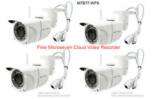 4 Microseven 1080P HD Wireless IP CAMERA Built-in POE SD Card Slot Audio Outdoor