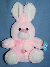 "Pink EASTER BUNNY RABBIT 6"" Plush Pals Soft Toy Stuffed New Hunson Trading"