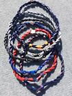 Double-Rope Titanium Rope Tornado Baseball Team Necklace 22