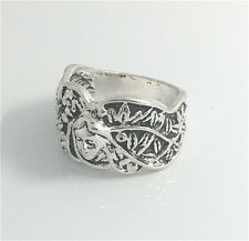 Vintage Woman 316L Stainless Steel Vogue Design Mini Skull Ring Size 10  HOT