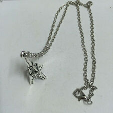 Retro Tower Charm Necklace NEW@1