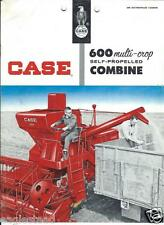 Farm Combine Brochure - Case - 600 - Multi-Crop Self-Propelled - c1960 (F3200)