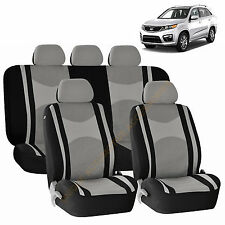 GRAY AIRBAG & SPLIT Bench SEAT COVERS 9pc SET for KIA OPTIMA SORENTO