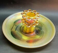 Mint TIFFANY STUDIOS FAVRILE Art Glass Bowl w/ Flower Frog    antique vase