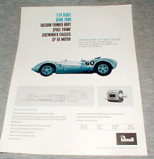 1965 Revell 1/24 Scale Genie Ford Advertising Dealer Flyer Print Slot Cars NOS