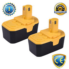 For Ryobi ONE PLUS ONE+ 18V Volt Compact NiMH Battery P100 (2 Pack Batteries) 3A