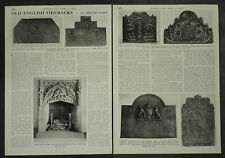 Antique Old English Fireback ( History Of ) 1955 3 Page Photo Article
