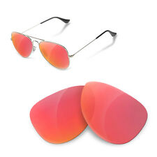 Polarized Replacement Lenses for Rayban 3025 aviator 58 size ruby red color