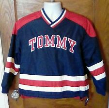 VTG Tommy Hilfiger Colorblock Flag Patch Fleece Lined Pullover Jacket Medium FS!