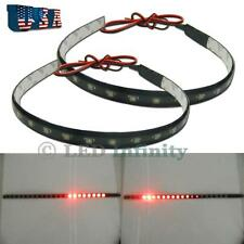 "12"" Red 22-SMD LED Scanner Lighting Strip Light Interior Decoration Lights #TR1"
