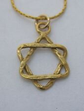 Goldfilled Star of David pendant, gold plate as good as 14CT (Mogen Dovid) NEW