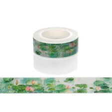 1pcs 15mmx10m Lotus Washi Tape DIY Scrapbooking Sticker Masking Tape