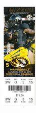 2014 MISSOURI TIGERS MIZZOU VS VANDERBILT TICKET STUB 10/25/14 MARCUS MURPHY