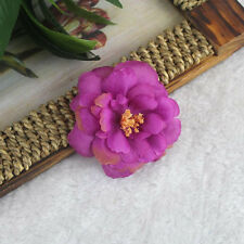 2Pcs Camellia Flower Hair Clip or Brooch Vintage 1950s Bridal Prom Rockabilly