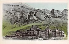 A5  CANADA Vancouver Postcard Real Photo RPPC c1940s FIELD Mt Stephens Lodge