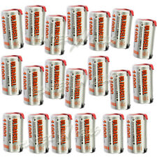 20 pcs D size 11000mAh Ni-MH Rechargeable battery Ultracell with Tabs Silver