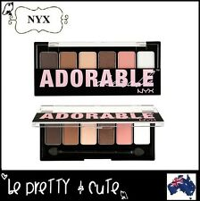 NYX The ADORABLE Eye Shadow Palette TAS01 Matte Shimmer Dark Brown Pink Nude AUS
