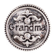 SNAP Grandma Metal Interchangeable Button Jewelry 18mm Fits Ginger Snaps