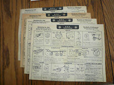 1938 Graham A E A Tune-Up System  GR 29 30 31 32 Vintage 4 Charts