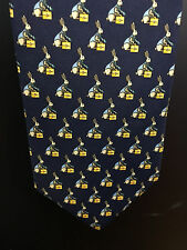 Brooks Brothers Ties Makers Mens Blue/Gold Silk USA