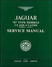 Jaguar XKE Shop Manual 3.8 4.2 1961 1962 1963 1964 1965 1966 1967 1968 1969-1971
