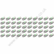50 x Green 5v 10mm T10 Wedge Base LED Bulbs for Arcade Push Buttons - MAME