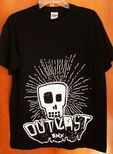 OUTCAST BMX skull logo T shirt bicycle motocross Positive med freestyle cycle