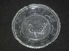 ANTIQUE SANDWICH AMERICAN GLASS CUP PLATE LEE 331 BUTTERFLY TRANSITION PERIOD