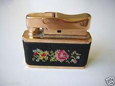 Seltenes EIN/GOLDENSEAL Benzin Feuerzeug Gold Plated Gobelin Stickerei Sammler