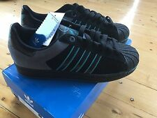 Adidas Superstar II Originals Shoes NEW  Size.  9 1/2 Black And Blue