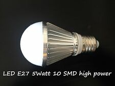 LED Energy Saving Light bulb Lamp Lightbulbs Classic A E27 5W SMD cold white