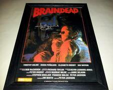 "BRAIN DEAD SIGNED & FRAMED 12""X8"" POSTER TIMOTHY BALME B MOVIE"