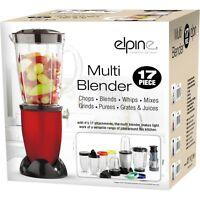 17pcs Multi Blender Food Processor Juicer Smoothie Maker Grinder Chopper (Red)