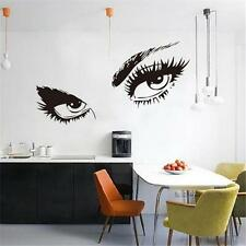 Beautiful Eyes Big Eye Lashes Home Room Decor Wall Art Mural Vinyl Decal Sticker