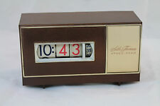 Seth Thomas Mid Century Modern Roll Clock Speed Read