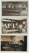 RPPC Lot of 3 - American BILLIARDS - Pool Game ca 1910  Real Photos Cue Sports 2