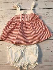 Gymboree baby Nautical 6-12 mo Striped Bloomer Outfit