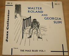 "WALTER ROLAND & GEORGIA SLIM ~  BLUES 7"" EP UK JAZZ COLLECTOR SERIES  JEL 1"