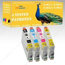 4x non-original comp Ink cartridges for Epson Stylus D88 DX3800 DX3850 DS series