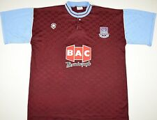 1989-1990 WEST HAM UNITED BUKA HOME FOOTBALL SHIRT (SIZE L)