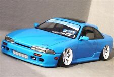 D-Like 1/10 RC NISSAN S14 SILVIA 195mm Clear Body Drift Pandora Yokomo Hashiriya