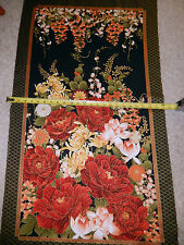 Imperial Oriental flowers PANEL - NICE !  CM2751 tt multi colored cotton fabric