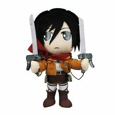 "ATTACK ON TITAN Dlx MIKASA ACKERMAN 8"" PLUSH Doll 3-D Maneuver Gear Anime Manga"
