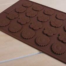 Cake Mould Chocolate Silicone 24-cavity Flower Pastry Baking Biscuit Sheet Mat