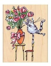 Penny Black, Margaret Sherry Mounted Rubber Stamp *furry florist* 4389K 112651