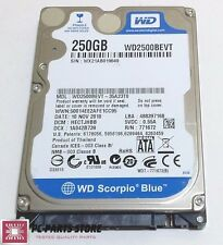 Western Digital 250GB 2.5 WD2500BEVT-35A23T0 2061-771672-F04 AC FOR PARTS/REPAIR