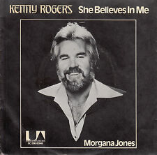 KENNY ROGERS She Believes In Me PICTURE SLEEVE 45 record + juke box title strip