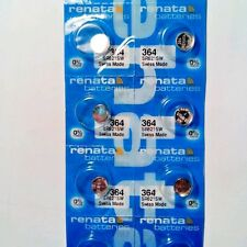 10 x RENATA SWISS MADE 364 SR621SW WATCH BATTERIES  exp: 09/2018 or later