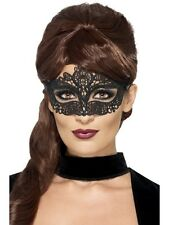 Embroidered Lace Filigree Adult Mens Halloween Fancy Dress Costume MASK 44282